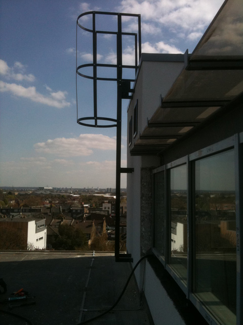 Welding Fabrication and Installation of Cat Ladders built to BS specifications