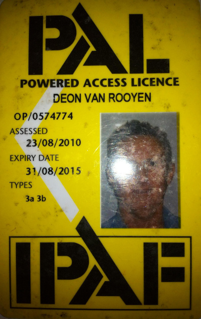 IPAF powered access licence